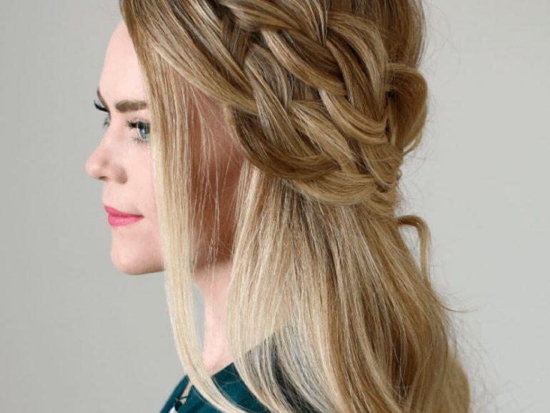 Tres ideas de peinados fáciles y sencillos para Navidad